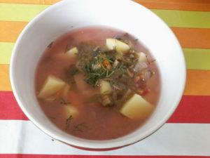 Zupa z botwinki z ziemniakami